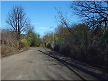 NS3980 : Road leading through Lomond Industrial Estate by Lairich Rig
