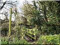 TM1355 : Footpath to The Hollows Coddenham Green by Adrian Cable