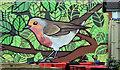J3674 : Robin mural, Connswater, Belfast (March 2016) by Albert Bridge