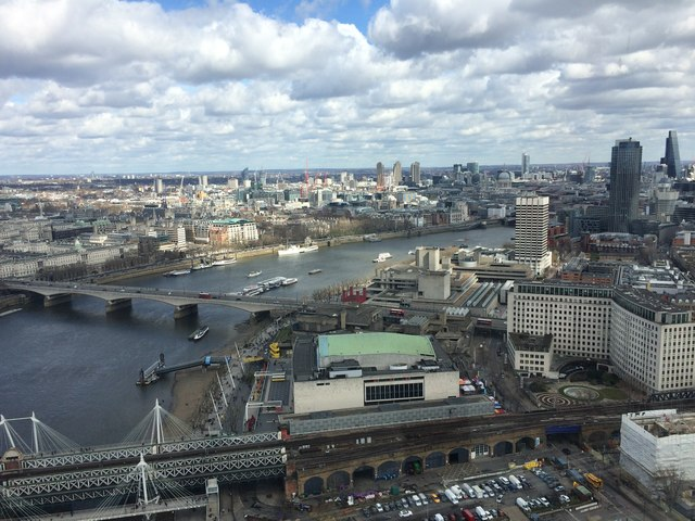 View over the South Bank, London