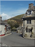 SY9682 : Corfe Castle: down East Street from The Square by Chris Downer