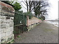 SJ3386 : Gated footpath on Esplanade, Rock Ferry by John S Turner