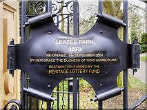 NZ2465 : Leazes Park (8) Heritage Lottery Restoration by David Dixon
