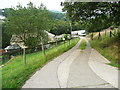 SE0522 : Footpath crossing the driveway to Bank House, Norland by Humphrey Bolton