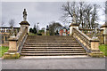 NZ2464 : Leazes Park (17) Steps onto the Terrace by David Dixon