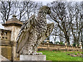 NZ2464 : Leazes Park (20) Stone Eagle by David Dixon