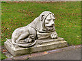 NZ2464 : Leazes Park (22) Right Hand Lion by David Dixon