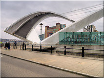 NZ2564 : Gateshead Millennium Bridge, Tilted Position by David Dixon