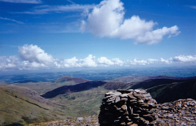 The summit cairn of Pen yr Helgi Du