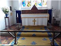 SU3477 : St James, Eastbury: altar by Basher Eyre