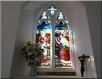 SU3477 : St James, Eastbury: stained glass window (c) by Basher Eyre