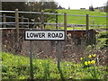 TM1554 : Lower Road sign by Adrian Cable