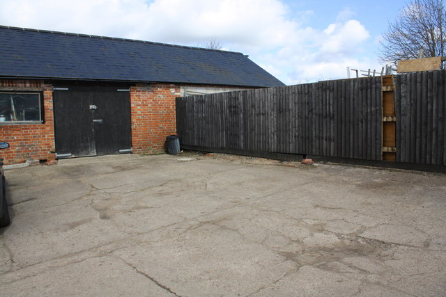 Yard and outbuilding at Lower Farm