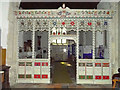 TF9627 : Great Ryburgh War Memorial screen by Adrian S Pye