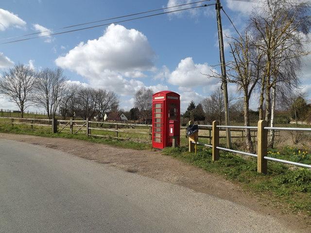 Telephone Box & The Bridge Rectory Road Postbox