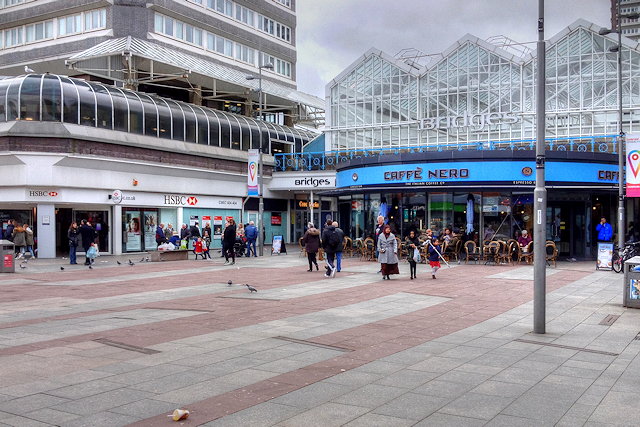 Sunderland, Market Place and Shopping Centre