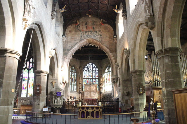 Nave and Chancel of St Giles' Church, Wrexham
