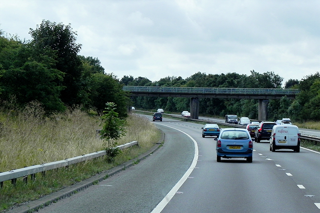 Southbound A1(M) East of Tickhill