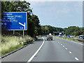 SK5797 : Northbound A1(M) near to Wadworth, by David Dixon