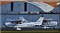 J4973 : G-UFCE and G-UFCI, Newtownards Airport (March 2016) by Albert Bridge