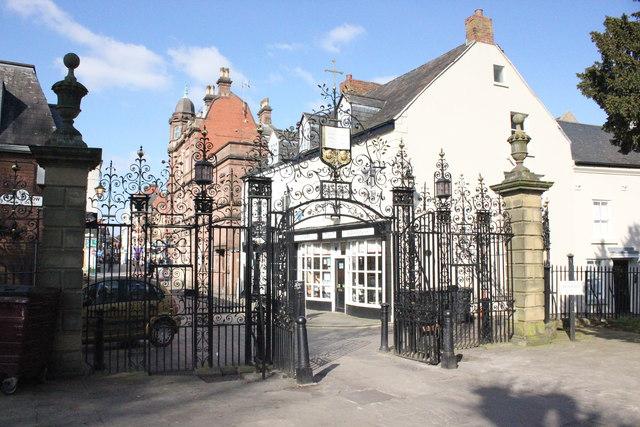 Entrance to St Giles' Church, Wrexham