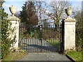 SO8644 : Gate and piers, Worcester Lodge, Croome by Philip Halling