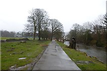 NY2623 : Wet day in Lower Fitz Park by DS Pugh