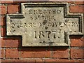 SO8841 : Inscribed stone on a cottage by Philip Halling