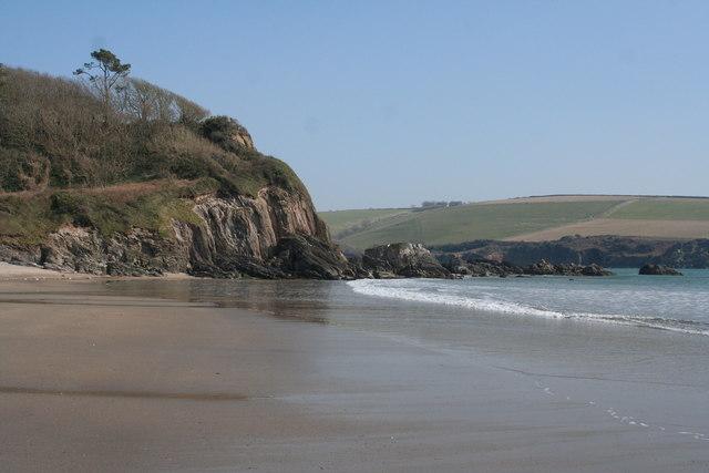 Meadowsfoot Beach: towards Owen's Point