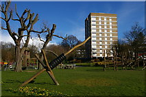 TQ3370 : Playground and flats, College Green SE19 by Christopher Hilton