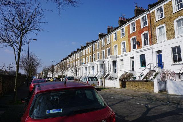 Terraced housing on Mildmay Grove North
