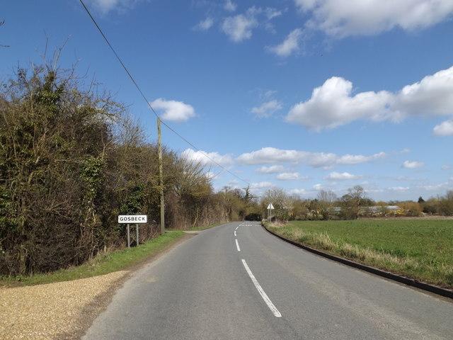 Entering Gosbeck on Ipswich Road
