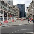 SP0787 : Tram tracks in Bull Street, Birmingham by Robin Stott