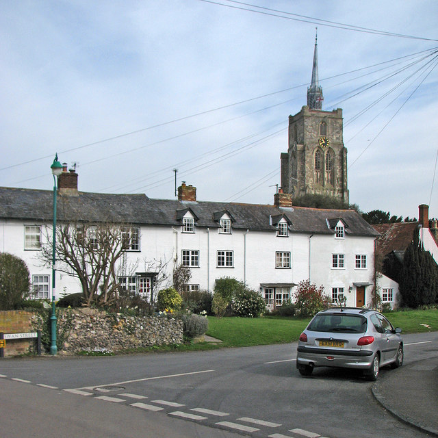 Ashwell: Swan Street and St Mary's tower