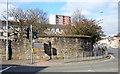 NS5768 : Maryhill Barracks wall by Thomas Nugent