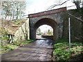 ST6771 : Railway bridge on School Road by Christine Johnstone