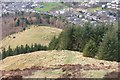 NT3337 : Looking down on Pirn Hill Fort, Innerleithen by Jim Barton