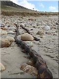SW3526 : Transatlantic cable uncovered on Sennen beach by Rod Allday