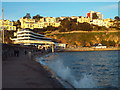 SX9163 : High tide at Torre Abbey Sands, Torquay by Malc McDonald