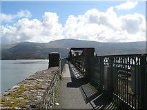 SH6215 : Over the Mawddach-Barmouth Bridge, Gwynedd by Martin Richard Phelan