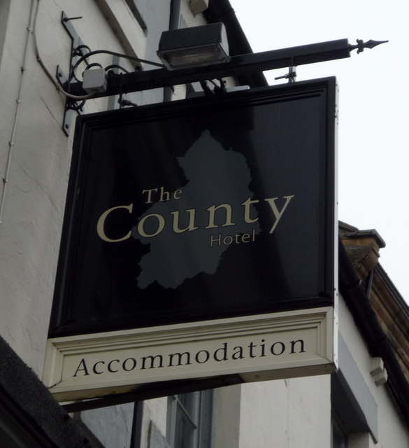 Sign For The County Hotel Hexham C Jthomas Cc By Sa 2 0 Geograph