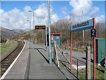 SH6214 : Train stop-Morfa Mawddach, Gwynedd by Martin Richard Phelan