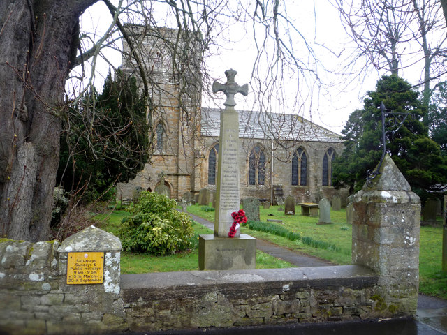 St Mary's Church and War Memorial, Blanchland