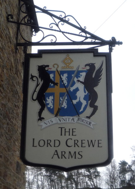 Sign for the Lord Crewe Arms, Blanchland