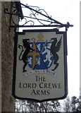 NY9650 : Sign for the Lord Crewe Arms, Blanchland  by JThomas