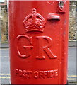 NY9363 : Cypher, George V postbox on St Cuthbert's Lane, Hexham by JThomas