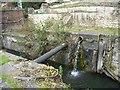 SO8702 : Remains of bottom gates, Bourne Lock by Christine Johnstone