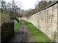 SO8702 : Southern boundary wall, Brimscombe Port by Christine Johnstone