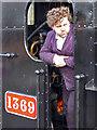 SX8061 : Portrait of a footplate man by Chris Allen