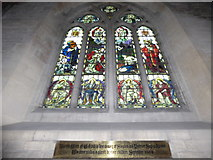 SU3981 : St Mary, Fawley: stained glass window (ii) by Basher Eyre